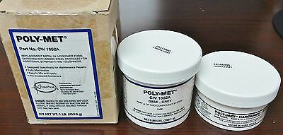 Poly-Met steel putty 2-part polymer system metal repair base & hardener CW1652A