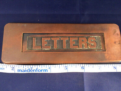 Rare Vintage  Copper Mail LETTERS Slot Old Architectural Salvage Hardware