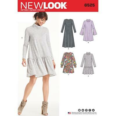 New Look Sewing Pattern Misses' Knit Dress Size 8 - 20 6525
