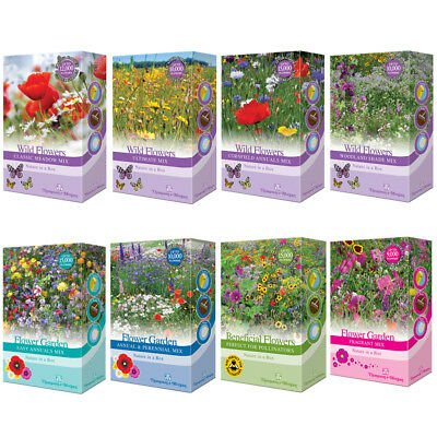 Seed Flower Garden Mixed Scatter Packs Wild Flowers Shake & Sow T&M