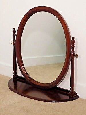 VINTAGE Solid Dark Cherry Georgian Court Ethan Allen Dresser Top Mirror