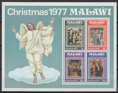 Malawi 1977 ** Bl.50 Weihnachten Christmas Gemälde Paintings [st3310]