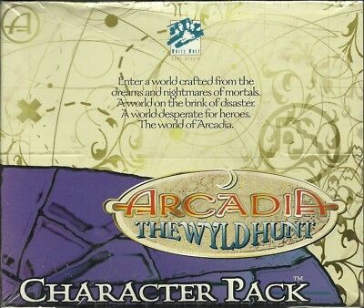 Arcadia Ccg - The Wyld Hunt Character Pack Display