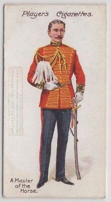Master of the Horse England Royalty Court Dress Uniform 100+ Y/O Trade Ad Card