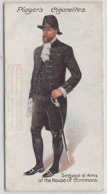 Serjeant at Arms British House of Commons Dress Uniform 100+ Y/O Trade Ad Card