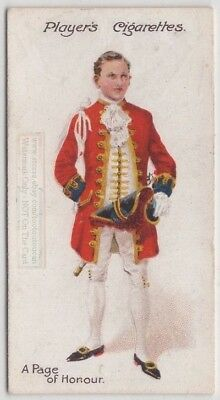 Page Of Honour Dress Uniform England Royalty 100+ Y/O Trade Ad Card