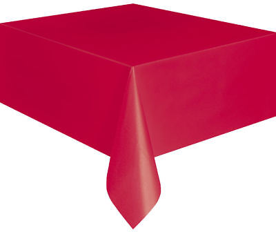 Red Dining Tablecover Meal Decoration Valentines Christmas