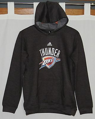 NEW Adidas Hoodie OKLAHOMA CITY THUNDER Boys 14 16 Youth OKC LARGE Sweatshirt L