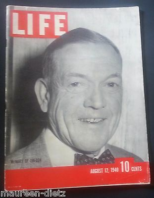 August 12, 1940 LIFE Magazine Old 40s ads Ad FREE SHIPPING Aug 8 11 13 14 15 9
