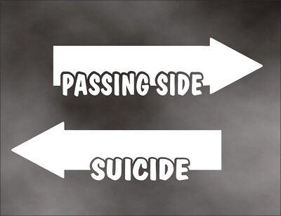 Europe PASSING SIDE SUICIDE decal set super duty box truck utility trailer SM WT