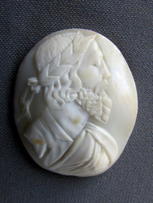 ANTIQUE 19th Century PLATO Hand Carved SHELL CAMEO Unmounted