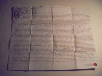 1770 Manuscript Paper Indenture Lease Document A Dock At Penryn, Cornwall