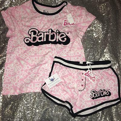 Ladies BARBIE Pyjamas Primark T Shirt Shorts Womens Pajamas