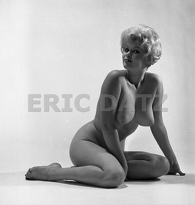 1960's Ron Vogel Negative, busty nude blonde pin-up girl Terry Higgins, t970415
