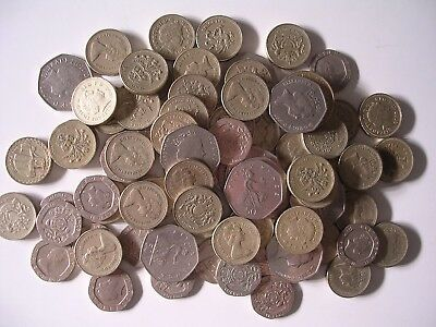 Lot British Coins 61.50 Pounds Face Value World Money Britain England English