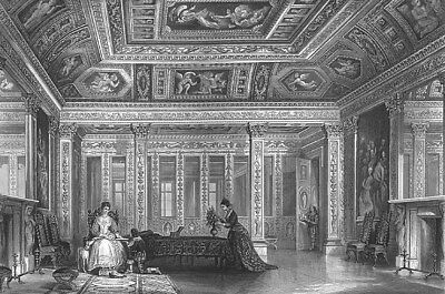 Paris LUXEMBOURG PALACE FRENCH SENATE Salle Livre d'Or, 1865 Art Print Engraving