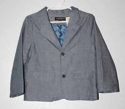 WOW~ WENDY BELLISSIMO sz 24 MTH BLUE CHAMBRY BOYS BLAZER COAT DRESSY