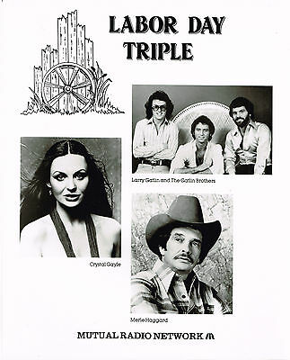 "Haggard, Crystal Gayle, Galtins 1970s  8x10"" still photo #"