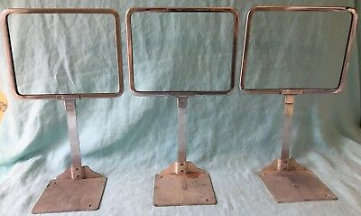 lot vtg 3 metal counter retail store display sign RHC fixture USA Large