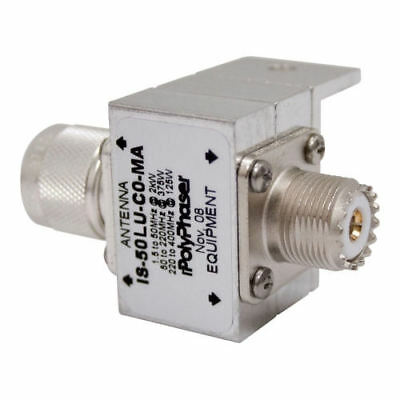 PolyPhaser IS-B50LU-C0-MA Lighting Protection 1.5 to 700 MHz SO-239/PL-259