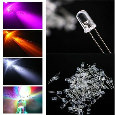Ultra Bright LEDs 3mm/5mm Red/Blue/Green/White/Yellow Lamp Emitting Diode Bulb
