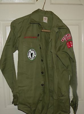 BOY SCOUTS VINTAGE OFFICIAL UNIFORM SHIRT and PANTS BSA SALEM LIBERTY OHIO 212