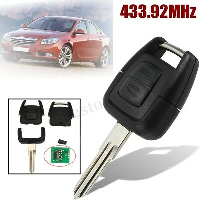 2 Button Remote Flip Key Fob ID40 Chip For Vauxhall Opel Astra Insignia Zafira