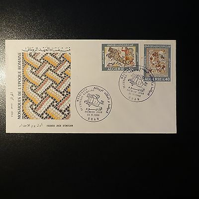 ALGERIA N°479/480 ON LETTER COVER 1st DAY FDC