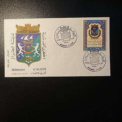 ALGERIA N°580 ON LETTER COVER 1st DAY FDC
