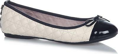 Butterfly Twists OLIVIA Ladies Womens Quilted Flexible Ballerina Flats Pewter