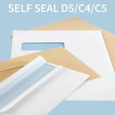 Self Seal Plain DL C6 C5 C4 Pocket White Envelopes High Quality Adhesive Strip