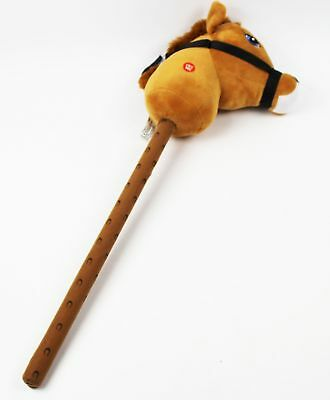 Brown Hobby Horse On Stick Galloping Neighing Sound Effects Play Pony Kids Toys