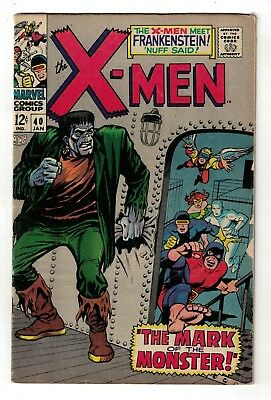 Marvel Comics Xmen X men 40 VGF 5.0 1967 Frankenstein