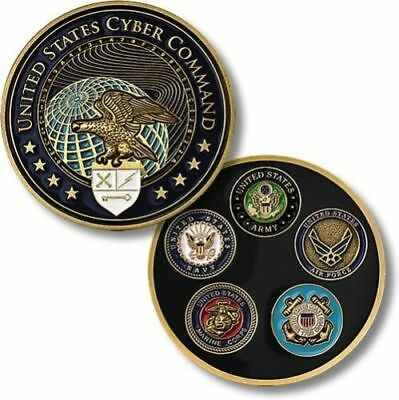 """United States Cyber Command Uscybercom 2"""" Challenge Coin"""