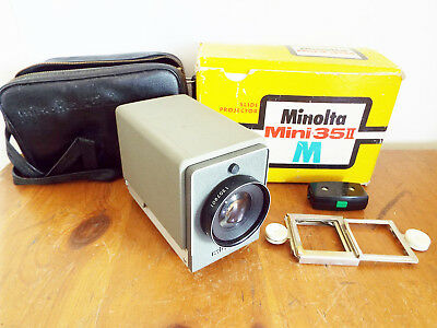 Vintage Minolta Mini 35 II Slide Projector in box - spares/repairs cable cut off