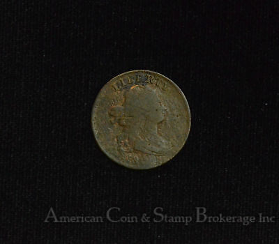 1/2c Half Cent Penny 1800 Drapped Bust first year issue