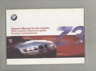 2001 BMW US Z3 2.5i 3.0i M Roadster M Coupe MINT ORIGINAL Owner's Manual wy9992