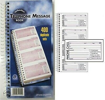 400 Note Telephone Message Pad Book NCR Carbonless 134 x 280mm Qty Choice.