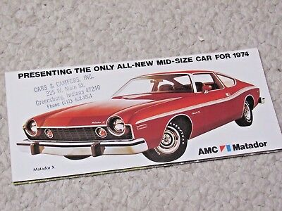 1974 Amc Matador Coupe (Usa) Sales Brochure