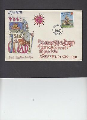 Isle of Man 1973 Inauguration Hand Painted FDC