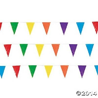 100' Multi Color Pennant Banner Flags Party Decoration