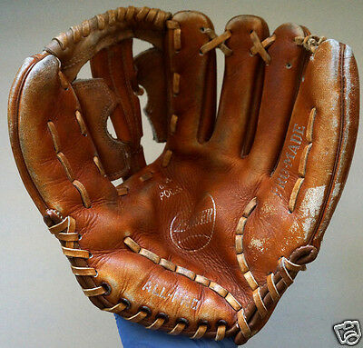 "Vintage All Pro 10"" Right Leather Female Owned Baseball Glove Roxie Robinson"