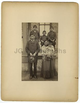 Sioux Indian Family - Scarce Oversized 19th Century Mounted Albumen Photograph
