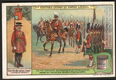England's King Edward And Gordon Highlanders c1909 Trade Ad Card