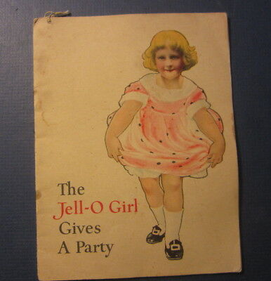 Old Vintage c.1910's JELL-O GIRL Gives a Party Advertising  BOOKLET ROSE O'NEILL