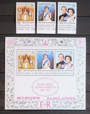 1977 Silver Jubilee Mint Stamps & Mini Sheet: Bangladesh.