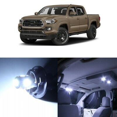 11 x White LED Interior Lights Package For 2016 - 2018 Toyota Tacoma + PRY TOOL