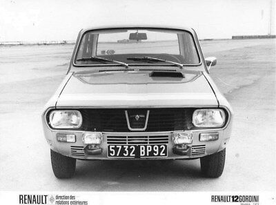 1972 Renault 12 Gordini ORIGINAL Factory Photo oua2139