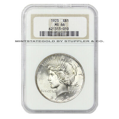 1923 $1 Peace NGC MS66 Gem Graded Philadelphia Silver Dollar Uncirculated Coin