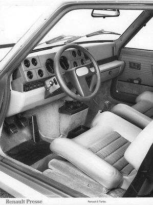 1980 Renault 5 Turbo Interior ORIGINAL Factory Photo oua2237